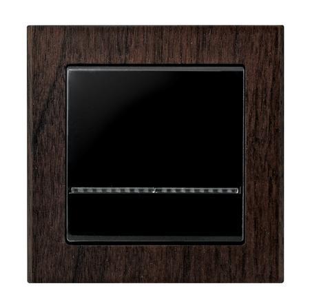 Łącznik jednobiegunowy ŁP-1RS/33 ramka drewniana seria Sonata OSPEL