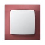 Łącznik jednobiegunowy ŁP-1S/00 ramka w kolorze perłowej czerwieni seria Karo OSPEL
