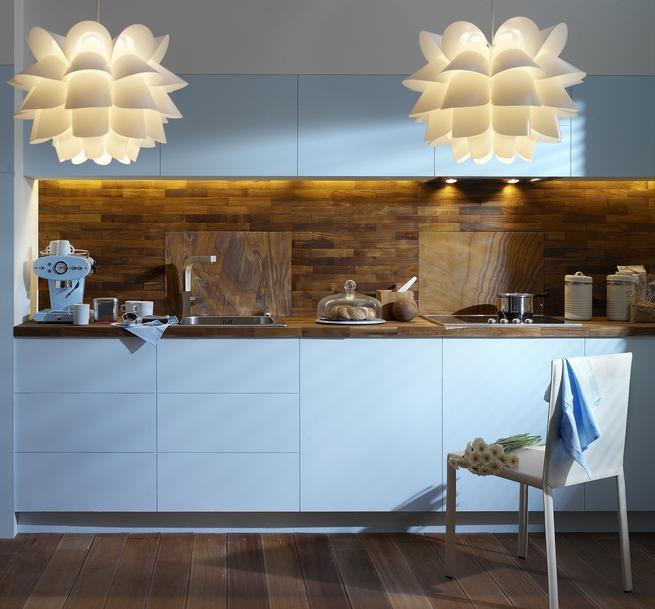 Modne wnętrze. Niebieska kuchnia