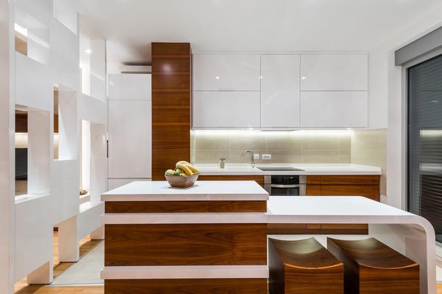 Zobacz galerię zdjęć Biała kuchnia na wysoki połysk   -> Kuchnia Biala Drewno
