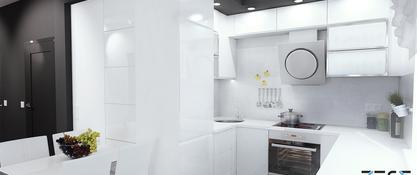 Projekt mieszkania w Katowicach - kuchnia