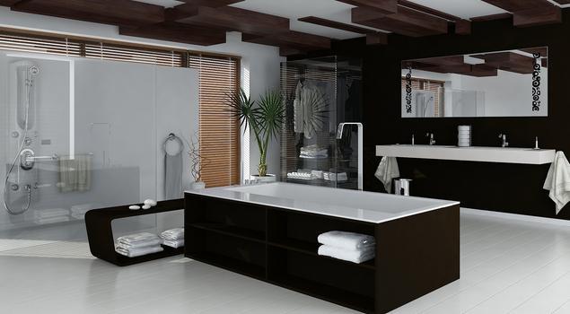 Pomysł na łazienkę. Aranżacja biało-czarnej łazienki