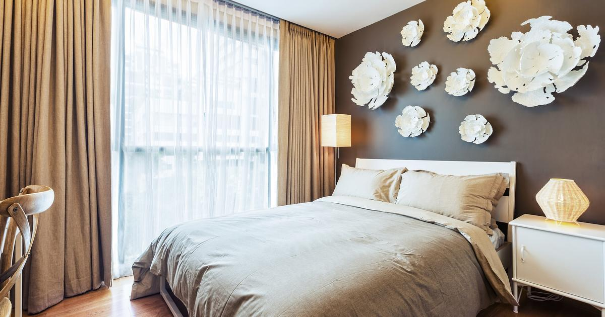 Pomysł na sypialnię - brązowy pokój